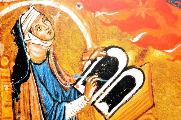 Hildegard at desk