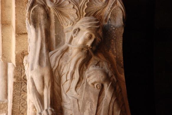 Biblical prophet at Moissac Abbey on Le Chemin de St. Jacques