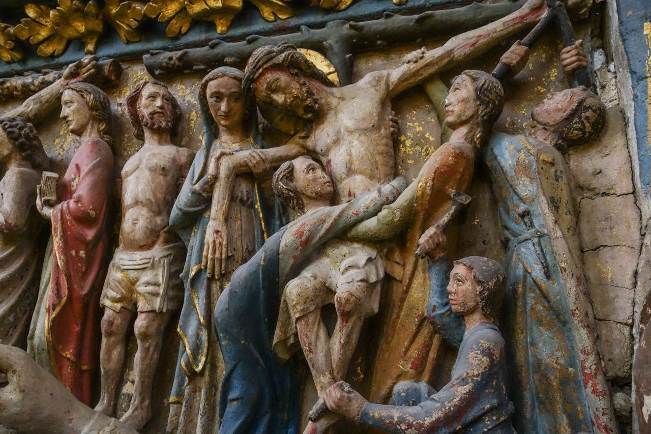 The Deposition (early Gothic; Leon cathedral on the Camino de Santiago)
