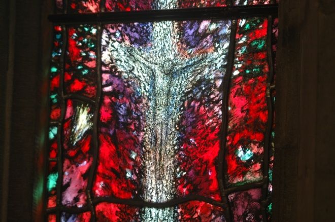 Window in Hereford Cathedral for Anglican visionary Thomas Traherne (Tom Denny, 2007)