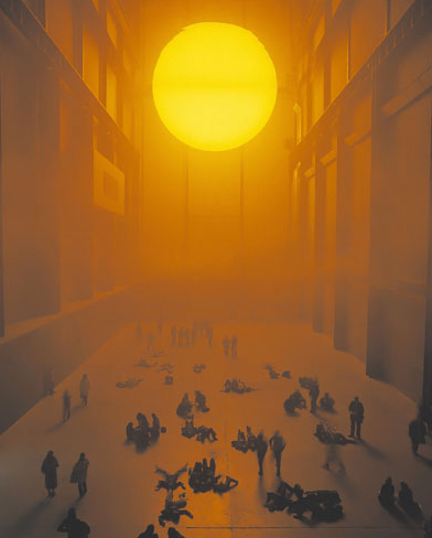 Olafur Eliason, The weather project (2003) at Tate Modern, London