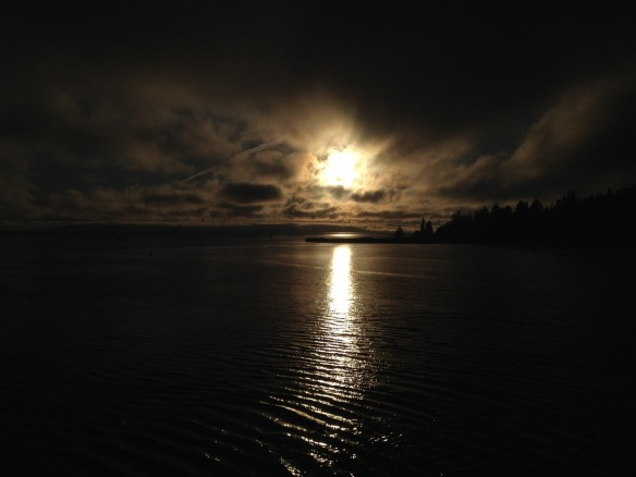 Sun in black sky