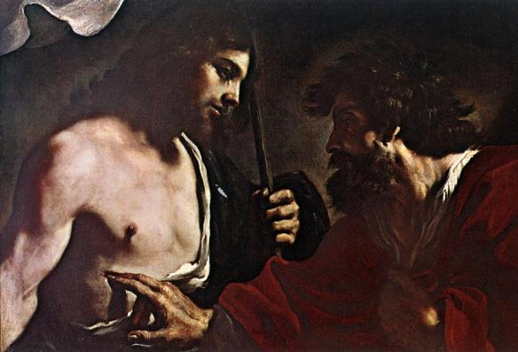 "Guercino, ""The Incredulity of Thomas"" (1621)"