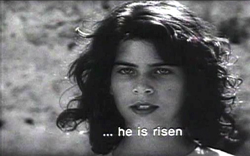 "Rossana Di Rocco as the Angel in ""The Gospel According to St. Matthew"" (Pier Paolo Pasolini, 1964)"