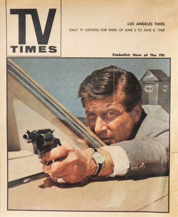 L.A. Times TV Guide cover, June 2, 1968, two days before Robert Kennedy's assassination in Los Angeles (Jim Friedrich personal archive)