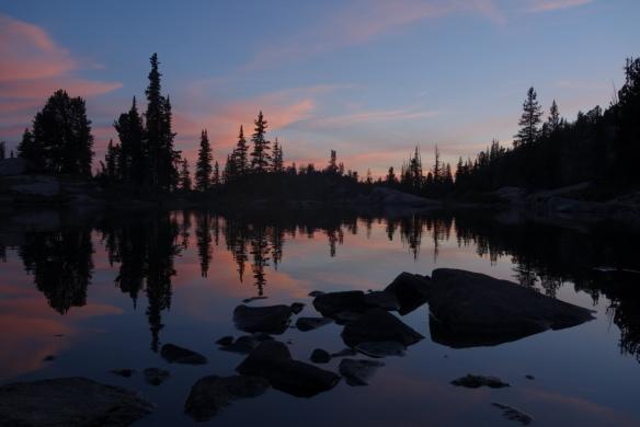 Sunset in Montana's Beartooths range (August 2015)