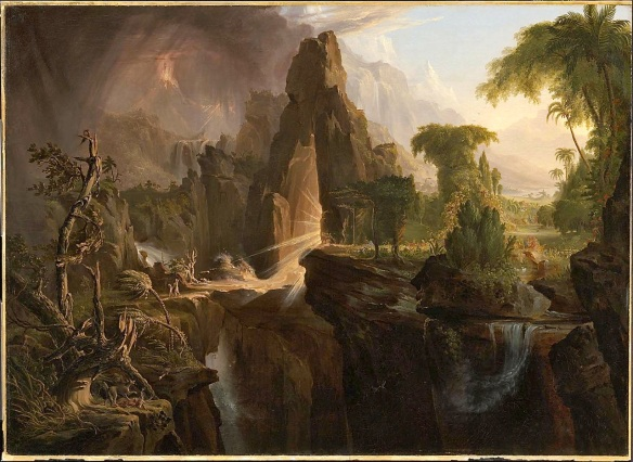 Thomas Cole, Expulsion from the Garden of Eden (1828)