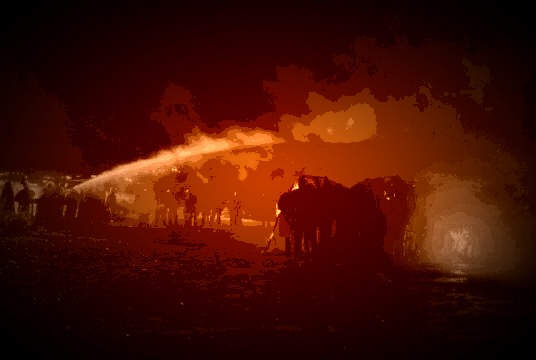 Standing Rock police assault Water Protectors with fire hoses.